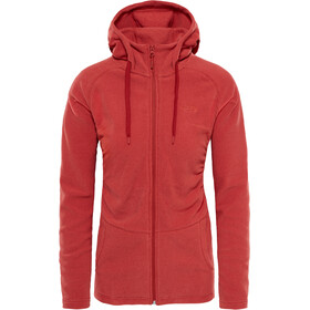 The North Face Mezzaluna Full Zip Hoodie Dame bossa nova red stripe